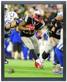 """Stevan Ridley 2013 Playoff Action-11"""" x14"""" Photo in a Glassless Sports Frame"""
