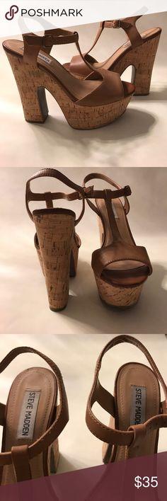 Steve Madden cork platform shoes Steve Madden chestnut platform shoes with cork Steve Madden Shoes Platforms