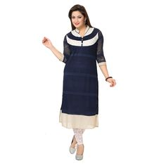 Buy Kaira Womens Indo Western Kurti Navyblue  Brand: Kaira Price : Rs. 1,280.00