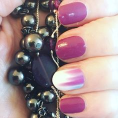 Boysenberry nails by Jamberry with a custom designed accent. Try the Jamberry Nail Art Studio and design your own nail designs.   http://kimd.jamberry.ca/