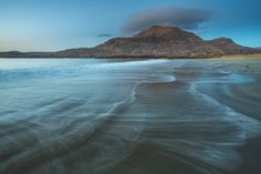Glassilaun Beach at Dusk Connemara, Dusk, West Coast, Ireland, Landscapes, Scene, Adventure, Mountains, Explore