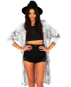 Chaya Draped Tie Dye Cape - Tops - Missguided
