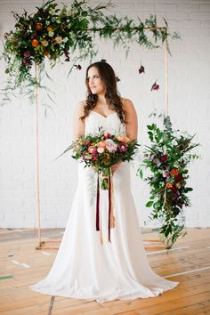 Image by Anushé Low - Alma by Limor Rosen And Rose by Vicky Rowe For A Wedding Inspiration Shoot At Luxury London Wedding Venue Sky Loft With Cake by Olofson Design Sweets From Anges De Sucre Flowers By Joanne Truby Images From Anushe Low And Styling And Planning By Always Andri