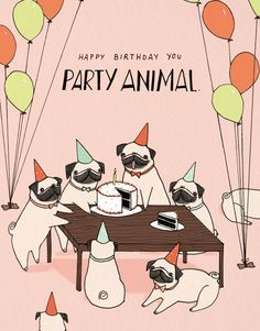 Party Animal card by Mai Ly on Postable.com