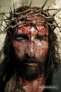 The Passion of the Christ - Behind the scenes photo of Jim Caviezel
