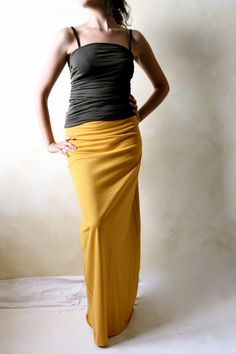 Maxi skirt, Pencil skirt, Jersey skirt, Long skirt, Cotton skirt ...