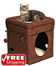 Cat Dog Scratching Pet House Toy Kitten Lounge Ball Chair Bed Furniture Playroom #MidwestHomesforPets