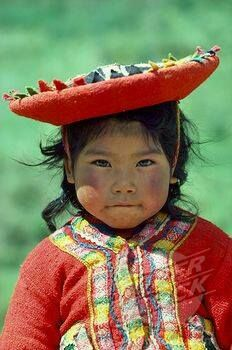Inca child, Andes Mountains, Peru