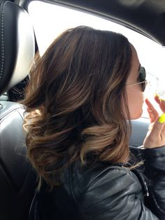 Ombre hair <3 - would do something like this if I went shorter. Although her hair looks pretty thick and mine is pretty fine
