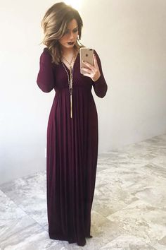 Told My Heart Maxi: Oxblood