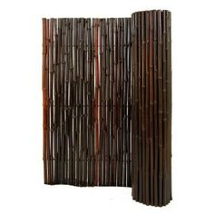 Backyard X-Scapes, 1 in. D x 3 ft. H x 8 ft. L Stained Mahogany Rolled Bamboo Fence, HDD-BF18 at The Home Depot - Mobile