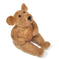 Brown Bear Needle Felting Kit - Do it Yourself craft - learn how to needle felt. $20.00, via Etsy.