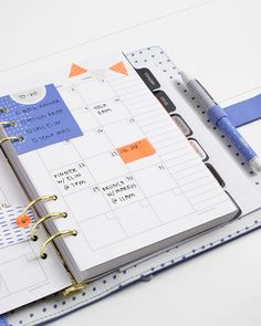 Be inspired to organise and plan your days with this gorgeous Cobalt Blue Leather Planner