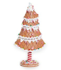 Trimsetter Gingerbread Collection Gingerbread Candy Tree Holiday Decor - N/A N/A Gingerbread Man Decorations, Gingerbread Christmas Decor, Candy Land Christmas, All Things Christmas, Christmas Holidays, Christmas Crafts, Christmas Decorations, Holiday Decor, Christmas Trees