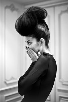 haha a HUGE bun. Dont know if i would rock it anywhere but at home>to scare my husband LOL.