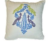 Tommy Hilfiger Folklore Birds Embroidered Decorative Throw Pillow 18 x