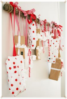 gifts on a branch super cute way to display beautiful wrapped pressies