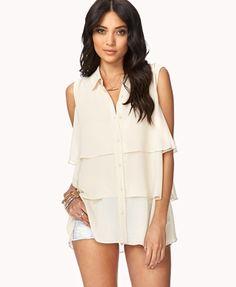 Tiered sleeveless blouse - $22.80