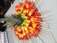 Fruit Kabobs - Healthy birthday treat to bring school !!