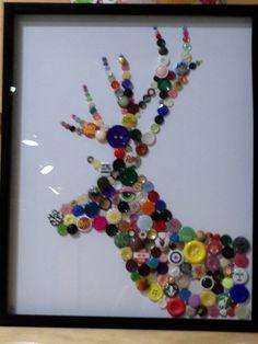 deer craft idea using recycled or repurposed materials
