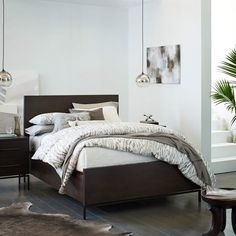 West Elm Queen Nash Mineral Bed - Bought March 27 —