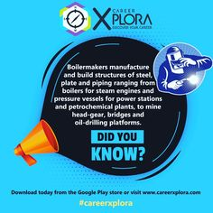 We are here to assist you with free career advice and information. Chat to a live career facilitator today! 😀😀  #careeradvice #careerhelp #boilermaker #didyouknow #careerxplora Career Help, Career Advice, Steam Engine, Discover Yourself, Did You Know, Live, Study, Explore, Career Counseling