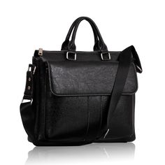 Unisex Black Laptop Bag Laptop Bag, Messenger Bag, Satchel, Unisex, Handbags, Black, Women, Fashion, Totes