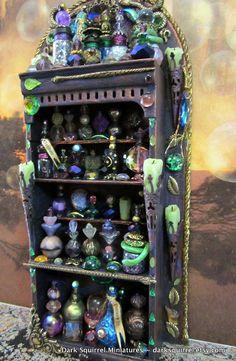 Charmer Potions Cupboard for a Dollhouse- AHHHHH so cute!!!