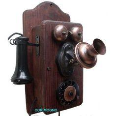 Telefone Antigo Junior - Artesanal - R$ 300,00 no MercadoLivre