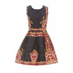 AX Paris Baroque Print Dress (65 CAD) ❤ liked on Polyvore featuring dresses, ax paris dresses, baroque style dress, baroque print dress, baroque dress and ax paris
