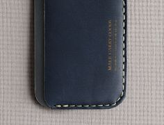 Slim indigo wallet from Florida's Makr Carry Goods. (Photo by Raymond Horn)