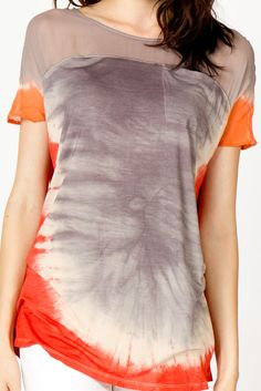 orange/grey tie dye inspiration