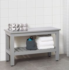 From wood benches to bamboo stools, the best small seating picks Bathroom Bench Seat, Bathroom Towel Storage, Bathroom Stools, Acrylic Bench, Acrylic Chair, Seat Storage, Bench With Storage, Small Wooden Bench, Wood Benches