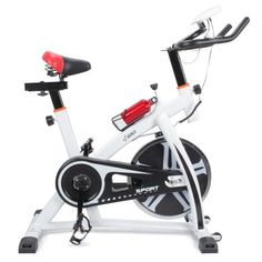 Akonza Pro Exercise Bike Indoor Cycling Bicycle Heart Pulse Trainer Gym w/Water Bottle Holder, White - Best Weight Loss Tips in 2018 Indoor Cycling Bike, Cycling Bikes, Bike Indoor, Bicycle Workout, Workout Pictures, Bicycle Maintenance, Bike Reviews, Bike Seat, No Equipment Workout