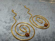 spiral earrings $30
