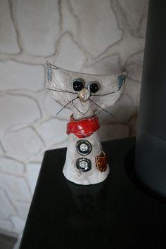 Gartenfiguren - Katze Keramik Ton gebrannt, Gartendeko, - ein Designerstück von ThoLiKo bei DaWanda