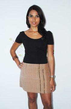 Tribal Vertical Cotton  Aline Mini Skirt by Navaiyara on Etsy, €15.00
