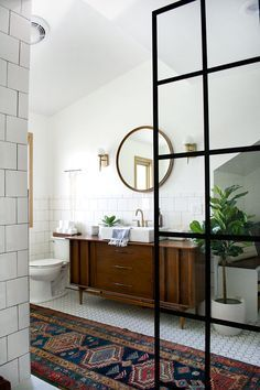 Modern Vintage Bathroom Makeover /
