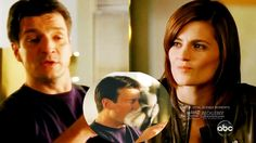 Castle 2x18 Moment: Someone smart enough to catch him - I'm speaking about Agent Shaw - Castle Teases Beckett   She Throws Towel at Castle (Boom) #Castle #CastleMoments