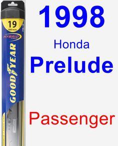 Passenger Wiper Blade for 1998 Honda Prelude - Hybrid
