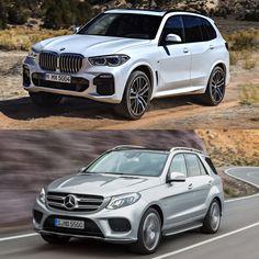 Photo Comparison: G05 BMW X5 vs Mercedes-Benz GLE-Class - http://www.bmwblog.com/2018/06/05/photo-comparison-g05-bmw-x5-vs-mercedes-benz-gle-class/