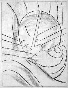 Henri Matisse - 1935, La barque de Ulysse / Odysseus' ship (one of six etchings illustrating James Joyce's Ulysses)