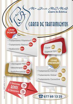 Tratamientos que podéis encontrar en Centro de Estética María José MoMa #piel #cuidados #inviertoenmipiel #porquetulovales #tratamientosfaciales