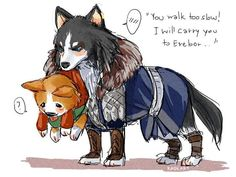 Thorin and Bilbo--if they were dogs :)