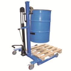 Model DL300Y #Drum #Lifter CE marked and plated Designed to carry full or empty 210 litre #steel #drums Foot operated #hydraulic #pump Lifts a drum up to 740mm off the ground This unit smoothly lifts the drum which is held firm by the clamp #Mobile on two fixed and two swivel braked 125mm #nylon #castors See more at: http://shop.hsil.co.uk/p-4758-drum-lifter.aspx#sthash.VVVTkAOR.dpuf