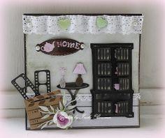 Kaart gemaakt met de Love Home stencils kast 6002/0338, tafel 6002/0339 en serviesje 6002/0340