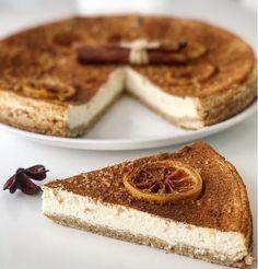 FITNESS cheesecake z ovsených vločiek bez cukru a múky! Healthy Deserts, Healthy Cake, Healthy Cheesecake, Cheesecake Recipes, Low Carb Recipes, Cooking Recipes, Healthy Recipes, Fitness Cake, Fat Burning Foods
