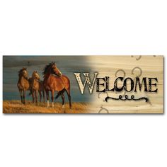 Welcome on Alert Painting Print on Wood