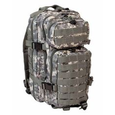 fd1be115e3 Mil-Tec Military Army Patrol Molle Assault Pack Tactical Combat Rucksack  Backpack 30L Acu At