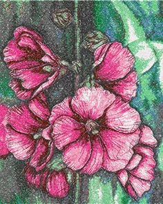 Malva photo stitch free embroidery design - Photo stitch embroidery designs - Machine embroidery community